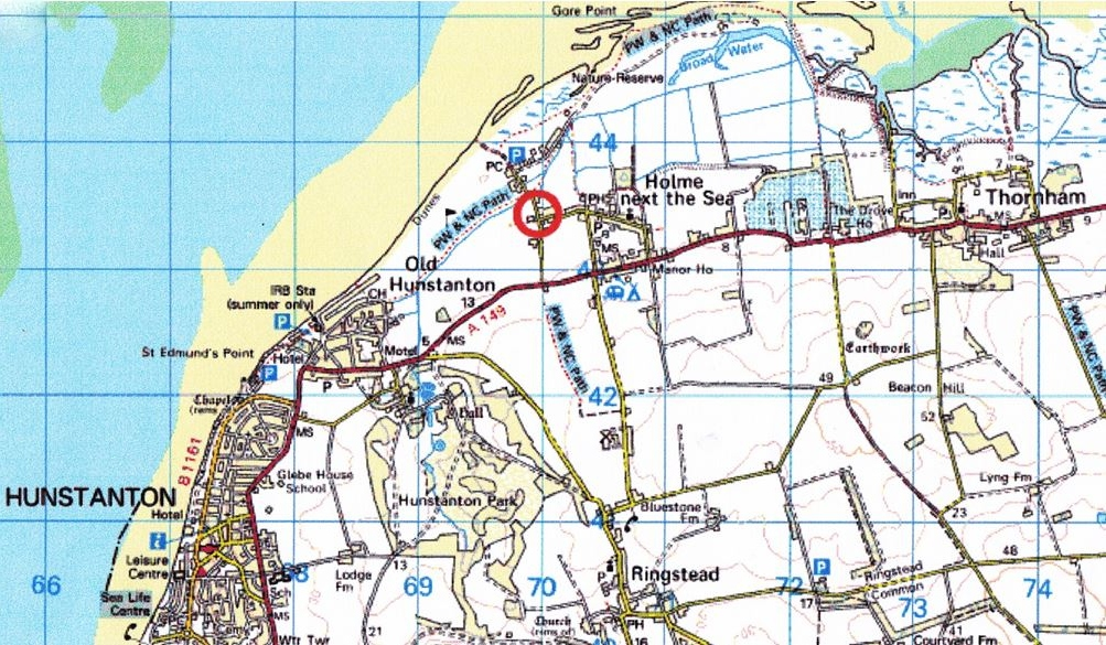 Holiday home by the sea, North Norfolk, location map - Brook Bungalow